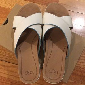 Ugg Kari white sandal